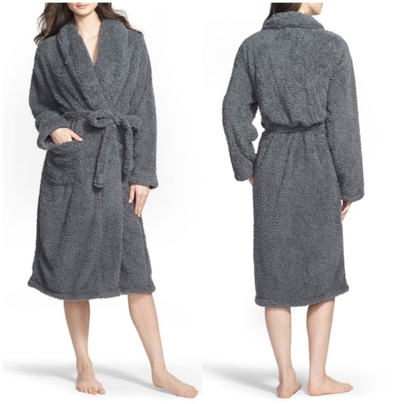 NEW Giraffe at Home Chenille Robe Size 1 Charcoal